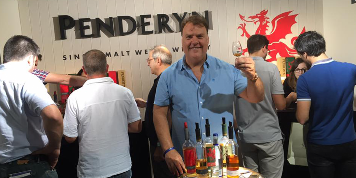 Bryn Terfel at our Whisky Live Paris stand